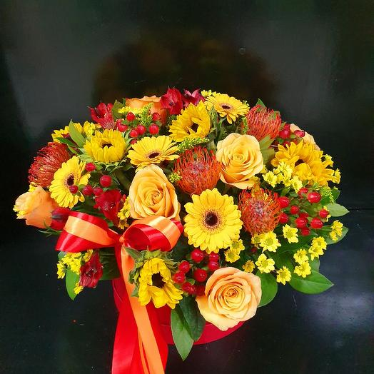 "Коробка ""Яркость красок"": букеты цветов на заказ Flowwow"