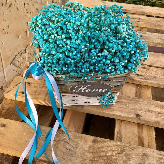 Гипсофила в корзинке: букеты цветов на заказ Flowwow