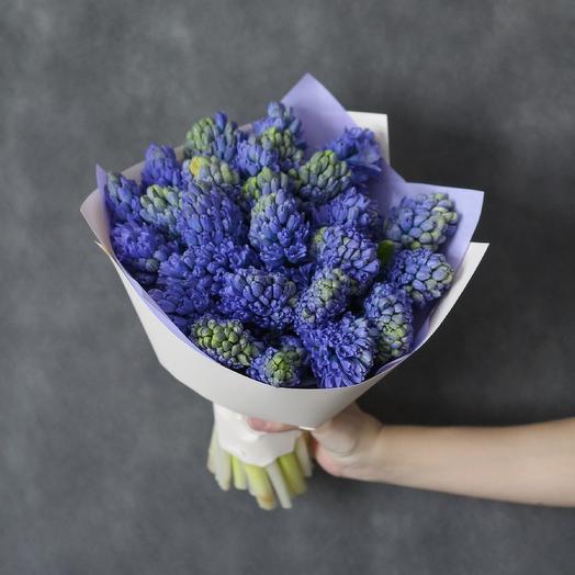 Букет из синих гиацинтов: букеты цветов на заказ Flowwow