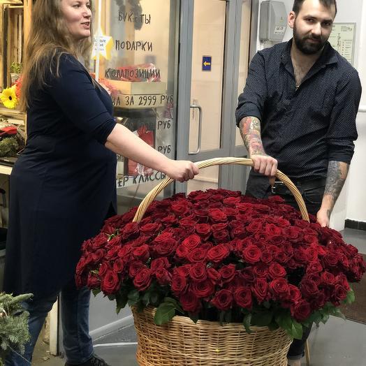 501  красная роза для самых любимых: букеты цветов на заказ Flowwow