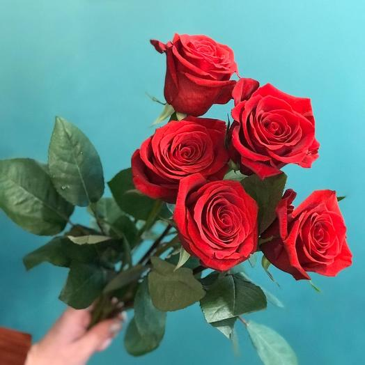 Монобукет из 5 роз