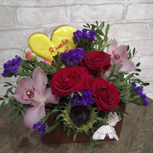 Конвертик со съедобным посланием: букеты цветов на заказ Flowwow
