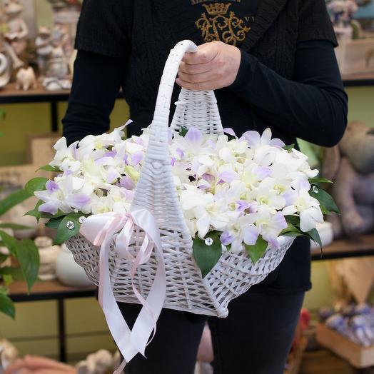 """Корзина с орхидеями """"Кружева"""""""