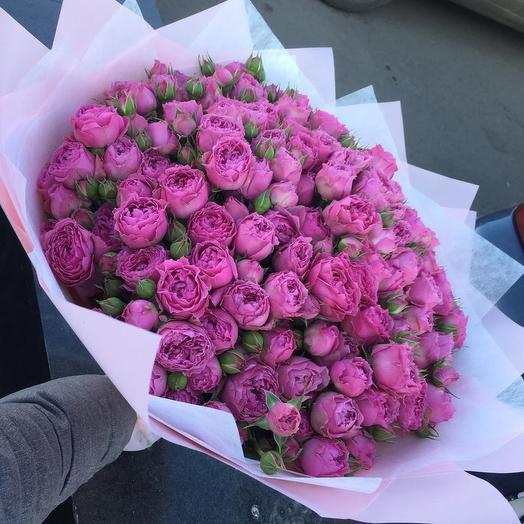 Пионовидные розы  Мисти Баблз: букеты цветов на заказ Flowwow