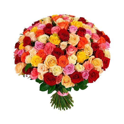 Букет из 101 (mix) розы (50 см)