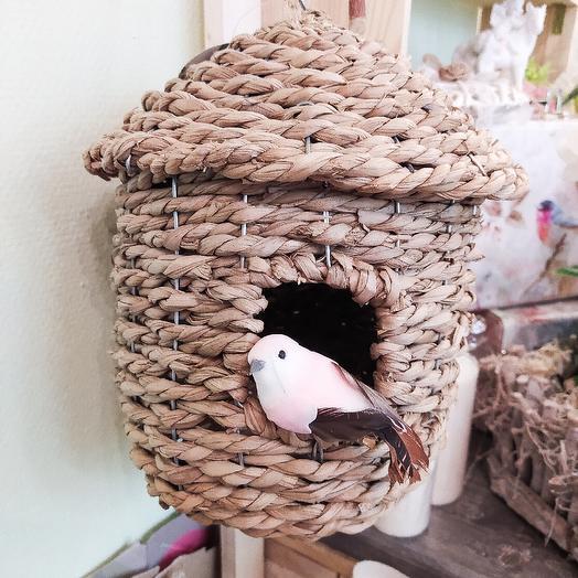 Плетёный домик для птичек