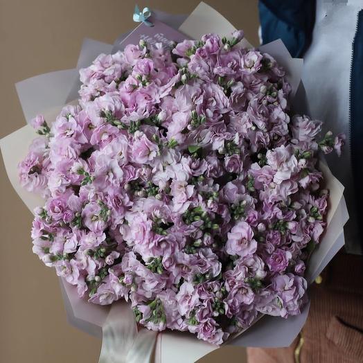Букет из ароматных левкое: букеты цветов на заказ Flowwow