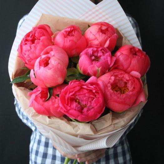 Коралловый закат: букеты цветов на заказ Flowwow