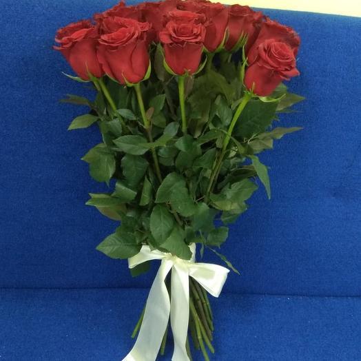 11 красных роз Эквадор: букеты цветов на заказ Flowwow