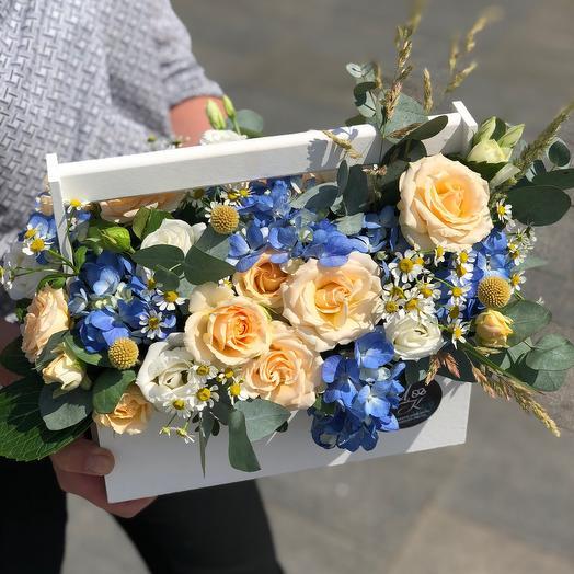 Гортензия и танацетум: букеты цветов на заказ Flowwow