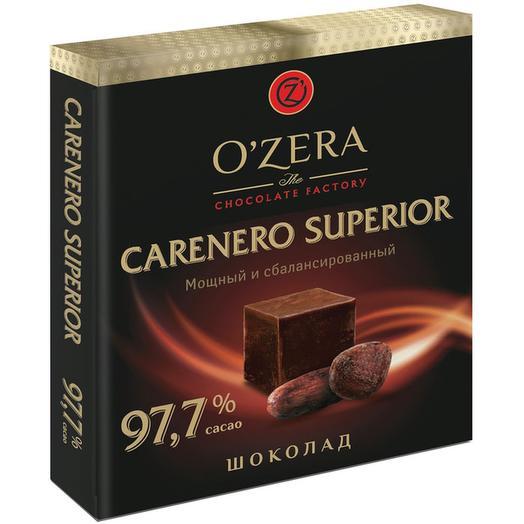 Шоколад горький OZera Carenero Superior в кубиках, содержание какао 97,7%, 90 г