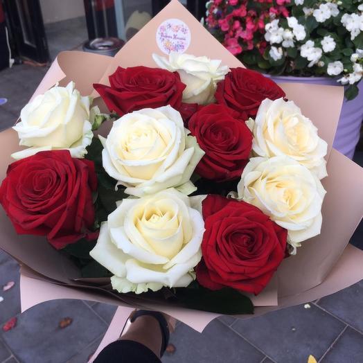 Монобукет из розы 70 см