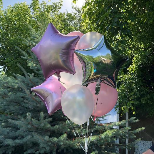 Rosalina - сет из 9 шаров с гелием «Нежность»