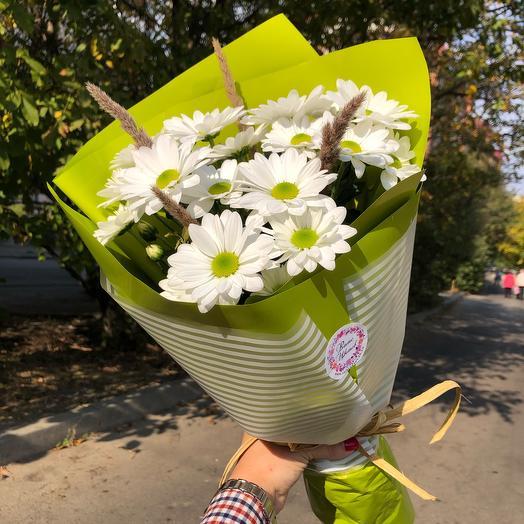 Букет белых хризантем «Бакарди»