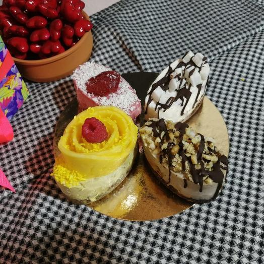 Маленький торт-ассорти из 4 вкусов