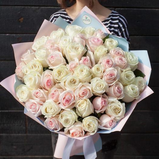 Нежный микс 51 роза (Эквадор)
