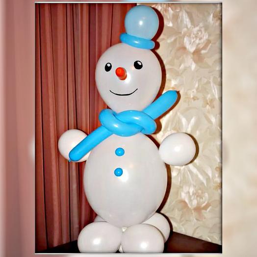 Снеговик из шаров воздушных