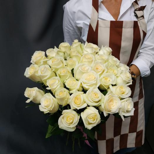 """Букет""""35 белых роз"""""""