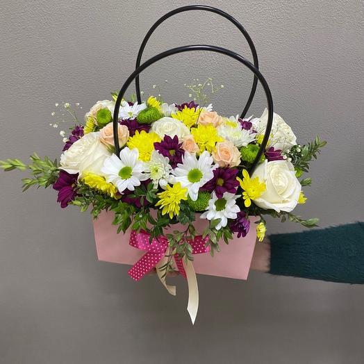 Цветы в сумочке «Леди»