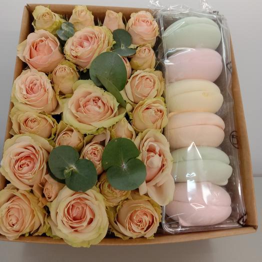 Розы с зефирками