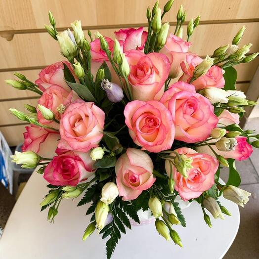 Нежно-розовая коробочка