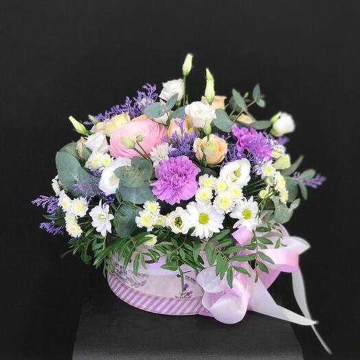 Цветы в коробке ПАРИЖ