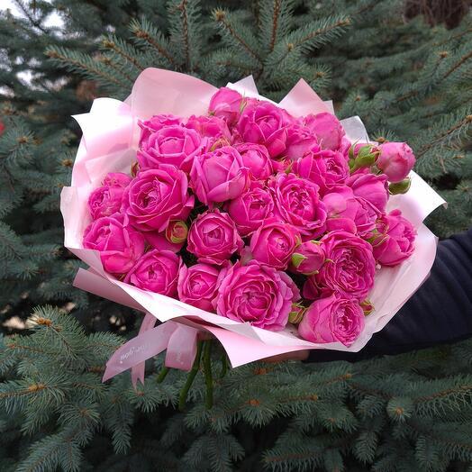 Rosalina - 9 Пионовидных кустовых роз