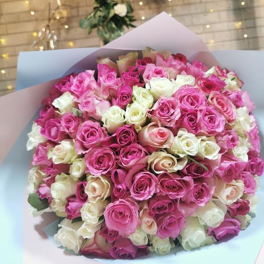 Букет из 101  розы Vip