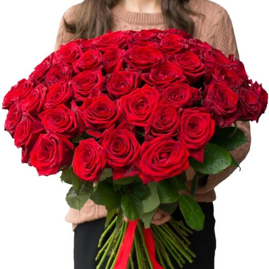 Букет 51 роза 70 см