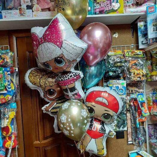 """Набор из 8 шаров для девочки """"LOL"""""""