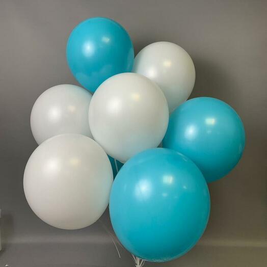 """Набор шаров """"Белое и голубое"""""""