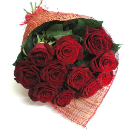 Букет из 15 красных роз Гран-При: букеты цветов на заказ Flowwow