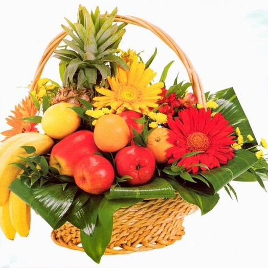 003 Корзина фруктов: букеты цветов на заказ Flowwow