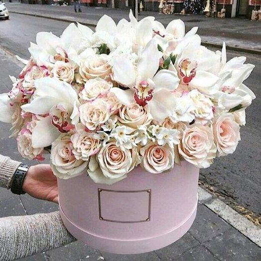 Орхидея в коробке: букеты цветов на заказ Flowwow