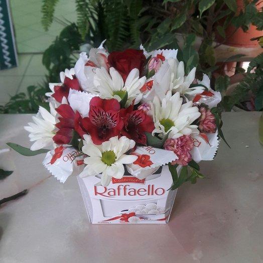 Рафаэлло с цветами