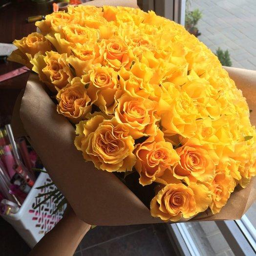 Букет из 101 розы 40 см: букеты цветов на заказ Flowwow