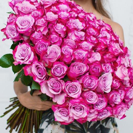 101  Эквадорская Роза 80см: букеты цветов на заказ Flowwow