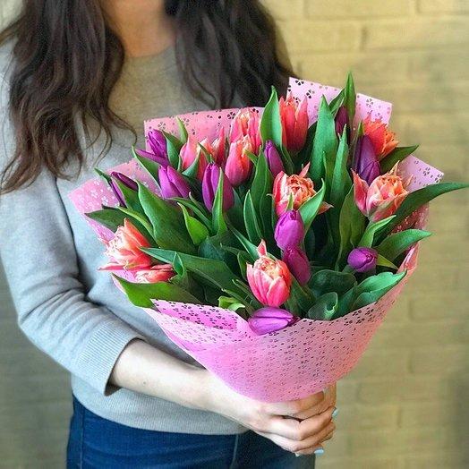 Букет ощущение тюльпанов: букеты цветов на заказ Flowwow