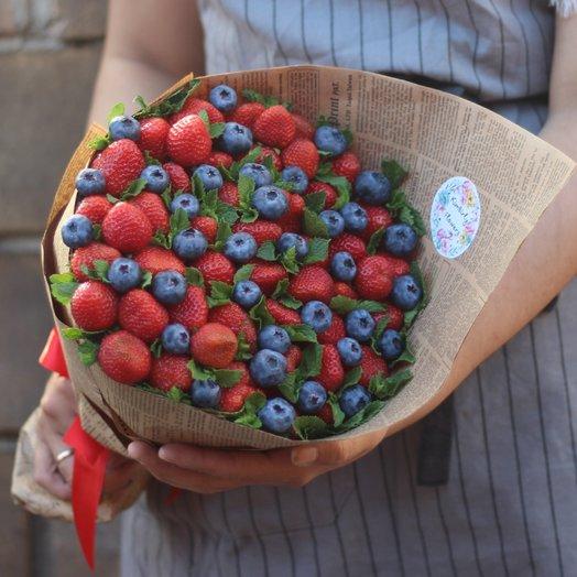 Букет клубника и голубика: букеты цветов на заказ Flowwow
