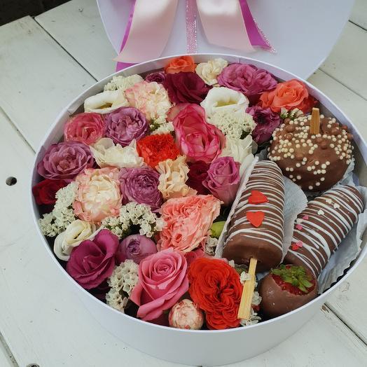 Вкусный микс: букеты цветов на заказ Flowwow