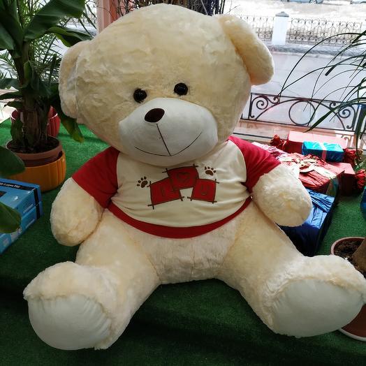 Медведь 🐻♥️ большой: букеты цветов на заказ Flowwow