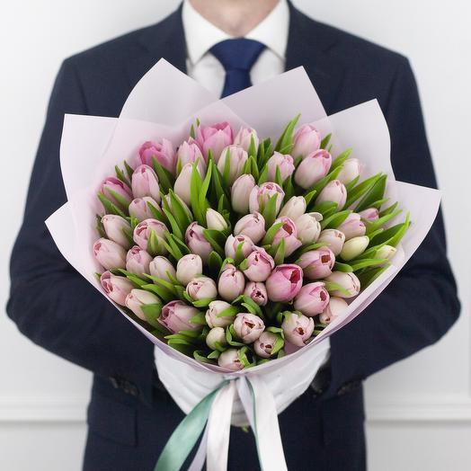 Букет из 49 голландских тюльпанов: букеты цветов на заказ Flowwow