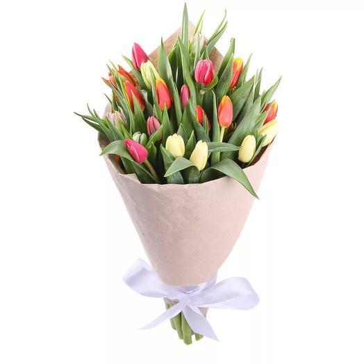 Тюльпаны 25 шт: букеты цветов на заказ Flowwow