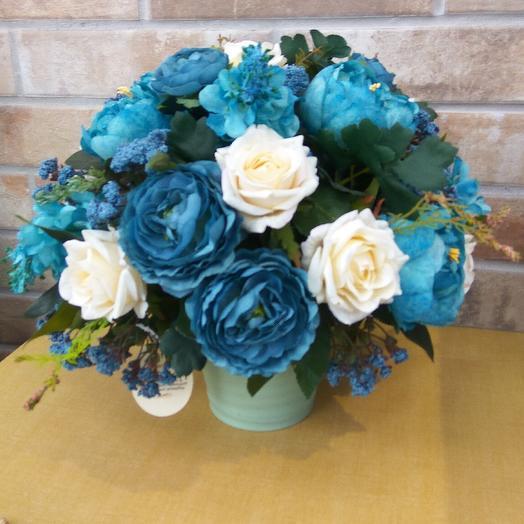 Интерьерная композиция(из искусственнных цветов): букеты цветов на заказ Flowwow