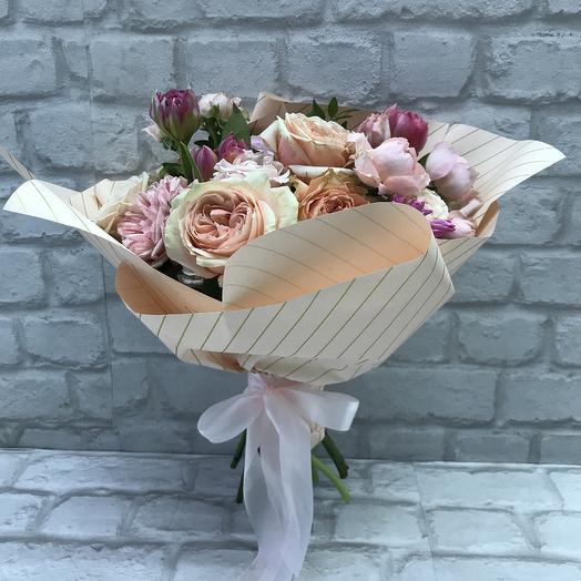 Букет «Персиковый»: букеты цветов на заказ Flowwow