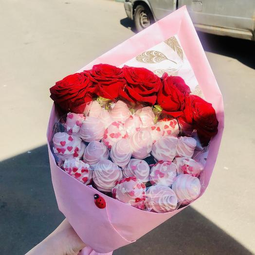 Букет «Клубничка»: букеты цветов на заказ Flowwow