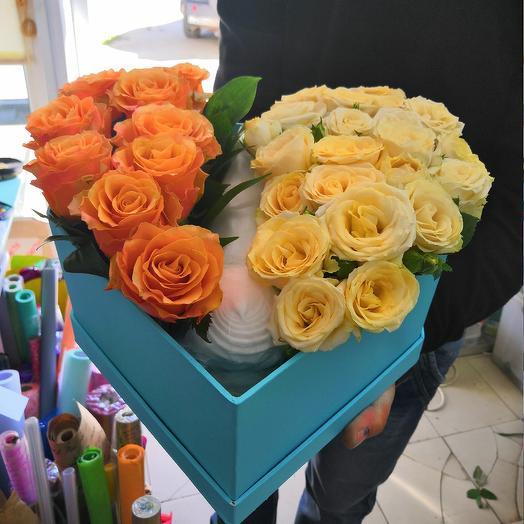 Сердце с сюрпризом внутри: букеты цветов на заказ Flowwow