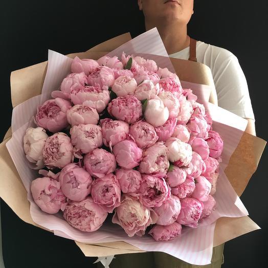55 роскошных пионов: букеты цветов на заказ Flowwow