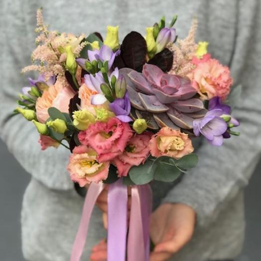"""Свадебный букет """"Бархатистый звон"""": букеты цветов на заказ Flowwow"""