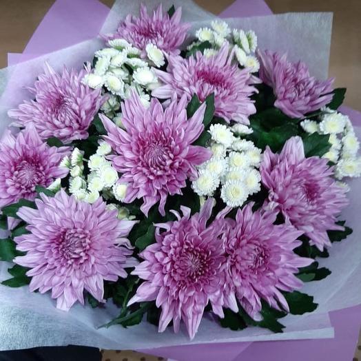 Букет из хризантемы: букеты цветов на заказ Flowwow